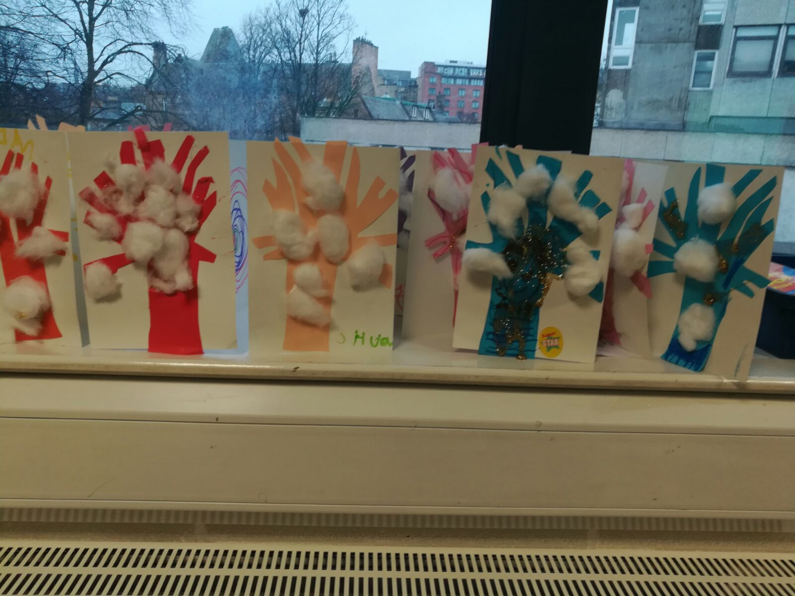 Winter trees made by the younger group of Little Muslims